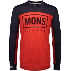 Mons Royale Redwood Enduro V-Neck LS Men bright red/9 iron